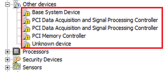 "Some devices are marked as ""Unknown device"" in device manager"